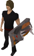 Replica Dragonfire Shield equipped