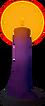 Candle (light purple) detail