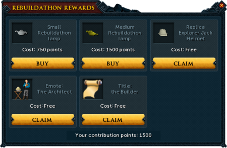 Lumbridge Rebuildathon F2P rewards unlocked