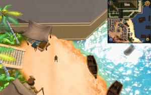 Scan clue Menaphos Worker district, west of Kharl on the southern end of the beach