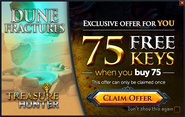 Treasure Hunter buy 75 get 75 promo (Dune Fractures)