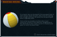 Beach Ball Rolling interface