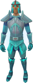 Ice warrior set equipped