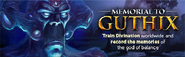 Memorial to Guthix lobby banner