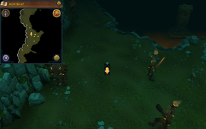 Scan clue Brimhaven Dungeon upper level centre of fire giant area