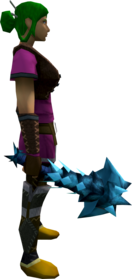 Drygore mace (ice) equipped