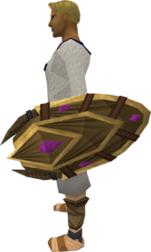 Duskweed shield equipped