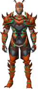 Kalphite Sentinel outfit equipped (male)