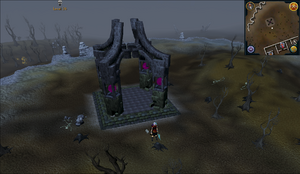 Emote clue Yawn near the Wilderness Bandit camp obelisk