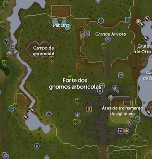 Forte dos gnomos arboricolas mapa