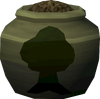 Fragile woodcutting urn (full) detail