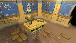 Sala das relíquias na colônia dos macacos