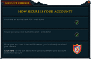 Account Checker interface