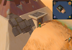 Sandy Clue Scroll Sunken Pyramid