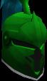 Steel heraldic helm (Guthix) chathead