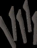 Wyvern spines detail