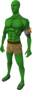 Guthix green skin equipped