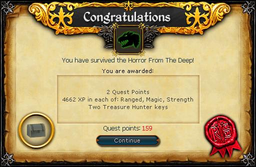 Horror from the Deep reward