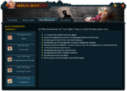 Mega May (May Weekends) interface