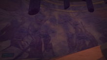 The Empty Throne Room mural