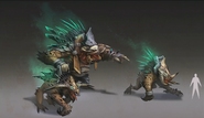 Beastmaster Durzag concept art