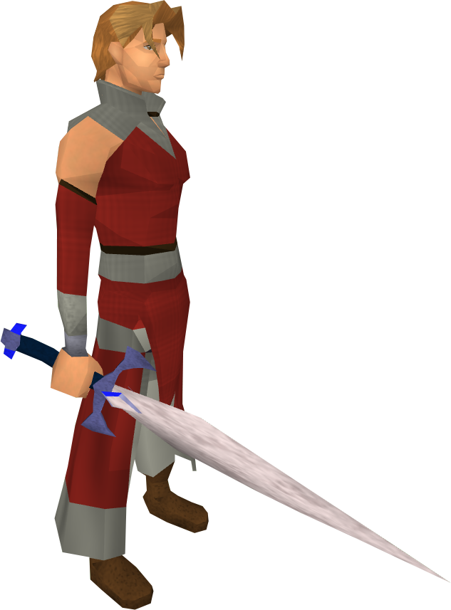 Blurite sword equipped