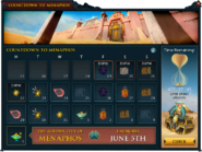Countdown to Menaphos interface