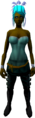 Feather headdress (charged) (blue) equipped.png