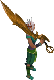 Golden Armadyl godsword equipped
