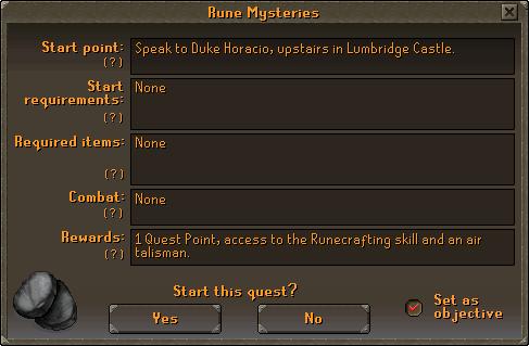 Quest interface