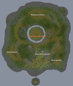 The Lost Grove map