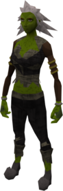 Zombie outfit equipped (female)