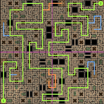 Carte 1 du Labyrinthe de Sliske (solution)