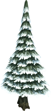 Evergreen tree (snow)