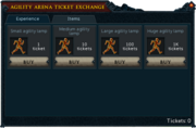 Agility Arena Interface Experience