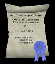 Certificado de Nível 3