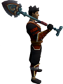 Beach Shovel Sword (2h) equipped.png