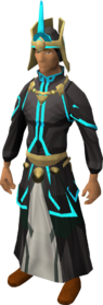 First tower robes equipped (blue)