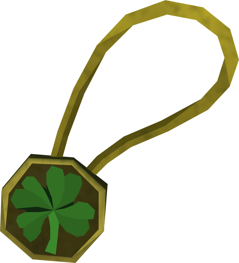 Four-leaf clover necklace detail