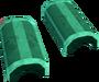 Green crescent key detail