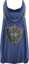 Hooded defence cape detail