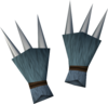 Werewolf claws (dark grey, female) detail