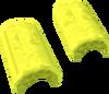 Yellow crescent key detail