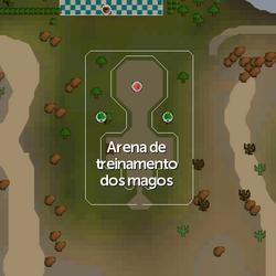 Arena de treinamento dos magos mapa