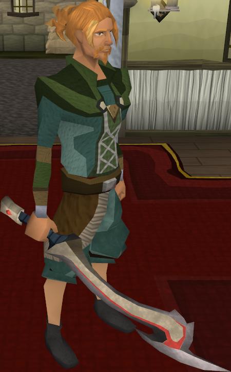 Korasi's sword equipped