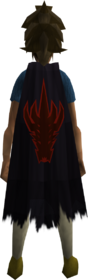 Royal cape equipped