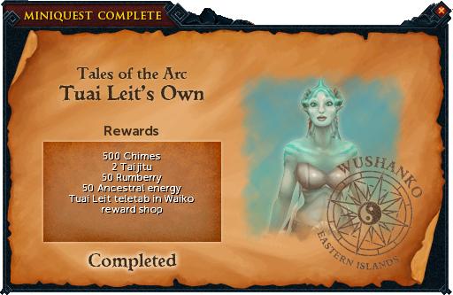 Tuai Leit's Own reward