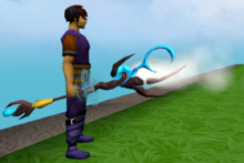 Augmented staff of limitless steam equipped
