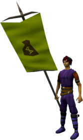 Banner (Money) equipped