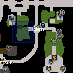 Cadarn ranger (NPC) location
